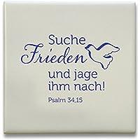 """°°JL2019""""Suche Frieden"""" Keramikfliese 10x10cm"""