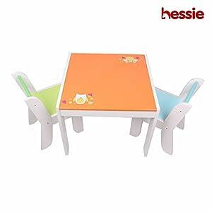 Hessie Piccolo giocattolo di bambini piccoli gioca sedia da tavolo impostato, stanza da letto in leg
