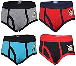 BODYCARE Boys Graphic Band Brief (Pack of 4)