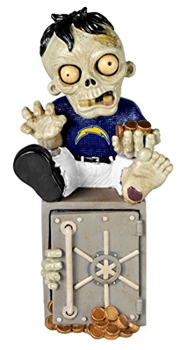 (Forever Collectibles Zombie Figur Bank, San Diego Chargers)