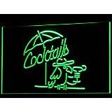 Cartel Luminoso ADV PRO i337-g Cocktails Parrot Bar Pub Club NR Neon Light Sign