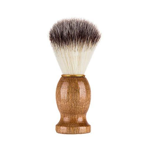 Dégagement!!!,❤️ ♬♬ ❤️ LMMVP Hommes Portable Brosse d'ours de Rasage Cheveux de Blaireau Se Raser Poignée en Bois Outil de Coiffeur de Rasoir (1PCS, Kaki)