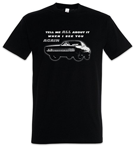 Tell ME All About IT When I See You Again Herren T-Shirt Vin Fast Car and The Diesel Furious