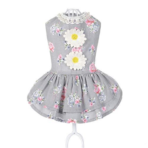 Kostüm Puff Herr - PZSSXDZW Pet Kleidung Frühling und Sommer Pet Puff Rock Sonnenblumenrock Hundebekleidung Grey Medium