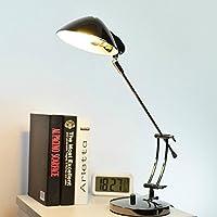 SBWYLT-Ufficio americano dell'hotel Hall tavolo lampada d'epoca in ferro battuto rame lampada soggiorno camera da letto studio Lampada da tavolo di art deco