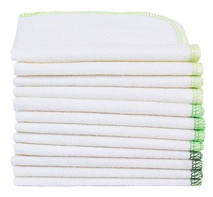 ImseVimse 12 Stk. Reinigungstücher/Waschlappen Wipes Forest 22,5x22,5 cm 100% kba Baumwolle washable wipes