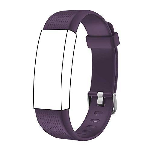 YiGaTech Cinturino di Ricambio Fitness Tracker per Fitness Tracker id130 Plus Color HR e Molti Altri Modelli Realizzati in TPU Skin-Friendly con Chiusura Anti-allergia (Porpora)
