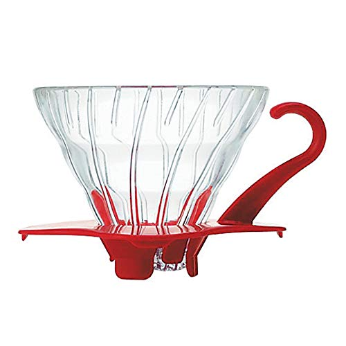 Hario V60 dripper transparent heat-resistant glass 01 Red 1-2 cups of VDG-01R (japan import)