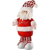 WeRChristmas–Figura Decorativa de pie de Papá Noel de Navidad, 43cm, Color Multicolor