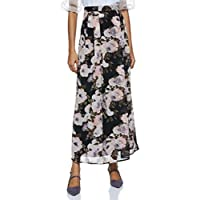 Styleville.in Synthetic a-line Skirt (SNSKF350321_Black_2XL)