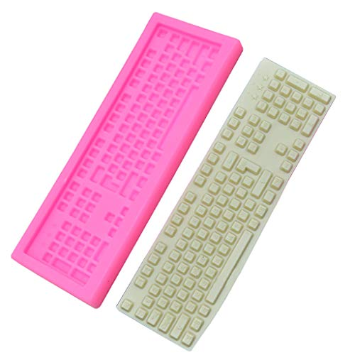Wokee_ 1 Pcs Tastatur Silikon Fondantform Icing Form Hochzeitstorte Schokoladenplätzchen Form Dekoration -