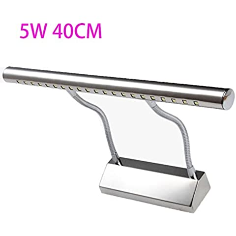 LYNDM 5W 40cm montato a parete LED Specchio bagno Lampada da parete AC220V 21LED 5050 SMD bianco/Bianco caldo LED anteriore a specchio appliques lampada luce,Beige(#JD-1285)