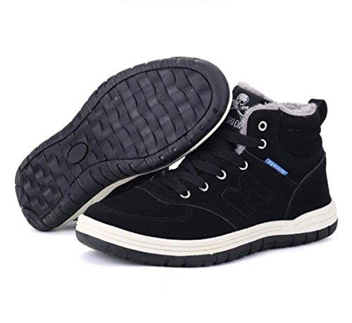 RDJM scarpe da ginnastica invernale di modo degli uomini più calzamaglia calzamaglia scarpe da trekking scarpe da skate black
