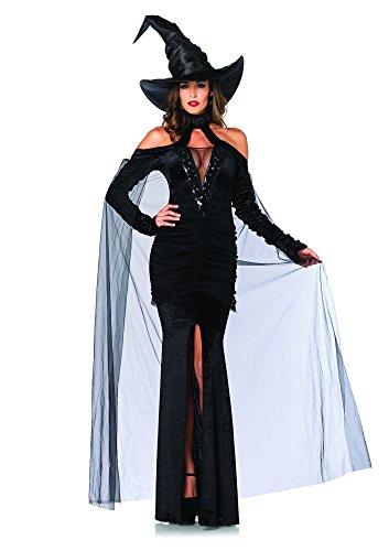 Sultry Erwachsenen Für Kostüm Sorceress - LEG AVENUE 85242 - Sultry Sorceress Kostüm Set, 2-teilig, Größe M, schwarz