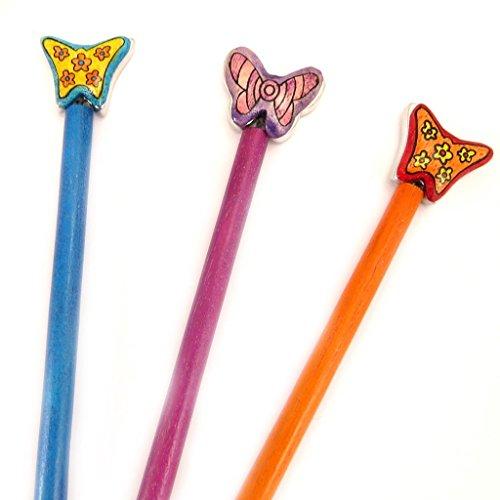 Les Trésors De Lily [L5038] - Set von 3 pins bun 'Papillons'
