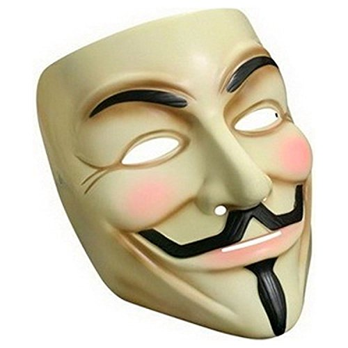 Oramics® VENDETTA Maske Mask Guy Fawkes Anonymous Replika Demo Anti -Karneval Maske Anti Acta Demo (Guy Fawkes Maske Kostüm)