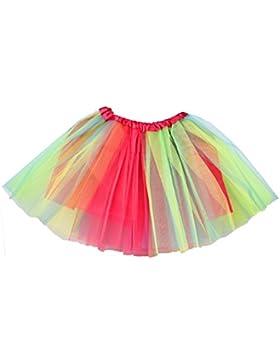 Jiayiqi Mujeres Ballet Tutú Acodado Organza Encaje Malla Mini Falda