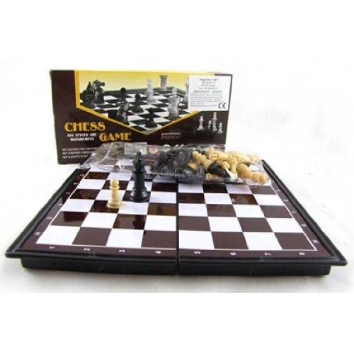 PREMIUM Mini Reiseschach (magnetisch) Schachbrett 19 x 19 cm - Schach Spiel Schachspiel Reisespiel