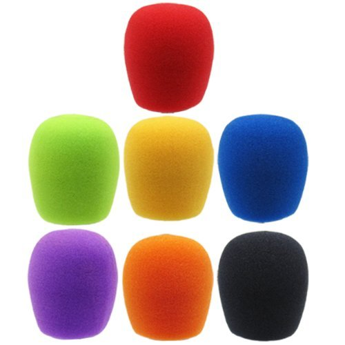 GLS Audio Mic Windschutzscheibe,-Farbe Mikrofon Windschutzscheibe-Mike Wind Screen passend für alle Standard Größe ball-type Mikrofone-Farbe Wind Bildschirme-7Stück -