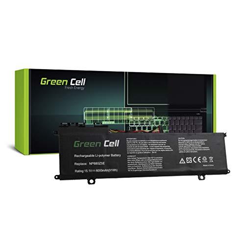 Green Cell® AA-PLVN8NP Laptop Akku für Samsung NP770Z5E NP780Z5E ATIV Book 8 NP870Z5E NP870Z5G NP880Z5E (Li-Polymer Zellen 6000mAh 15.1V Schwarz)