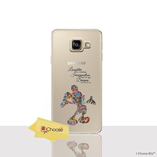 Fan Art Étui/Coque de Téléphone pour Samsung Galaxy A3 2016 / Silicone Doux Gel/TPU / iCHOOSE / Citation de Disney