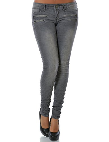 Damen Jeans Hose Skinny (Röhre weitere Farben) No 14089 Grau 40 / L