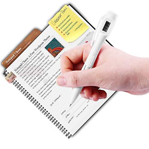 Ndier Digitaler Uhr-Kugelschreiber Elektronische Uhr Studentententest für Büro, Schule, Büro, Arbeit, Kugelschreiber, Weiß