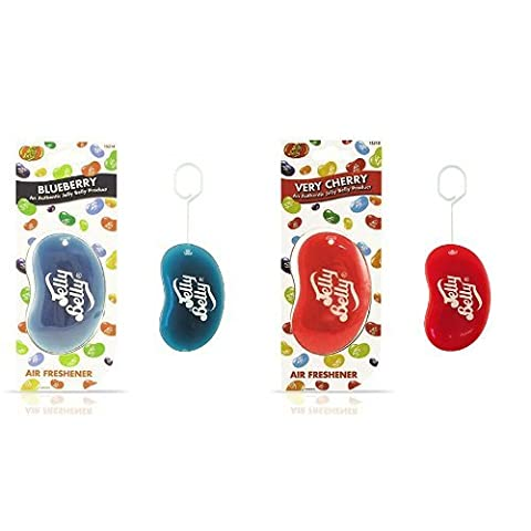 Jelly Belly 15214 3d Jelly Bean Air Freshener - Blueberry & Jelly Belly 15210 3d Jelly Bean Air Freshener - Very Cherry