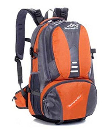 ShangYi Spalla sport borse donna uomo impermeabile parapioggia per outdoor escursionismo zaino viaggio borsa 42L litri , orange Orange