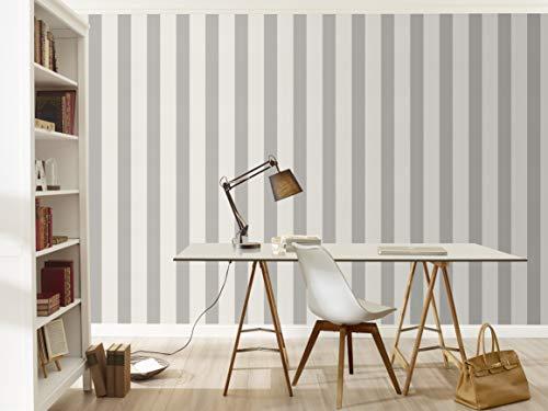 Vliestapete Streifen Gestreift weiß grau Tapete Rasch Prego 700251