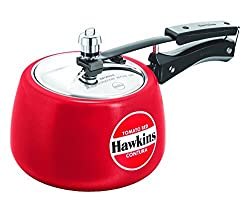 Hawkins Ceramic Coated Contura Pressure Cooker, 3 L, Red
