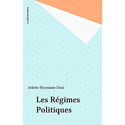 Les Régimes Politiques (Repères t. 244)