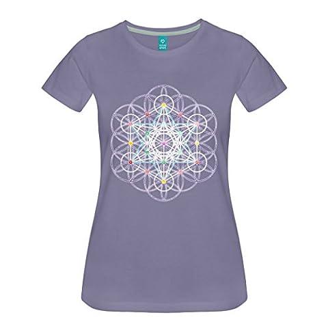Blume des Lebens Metatronwürfel Frauen Premium T-Shirt von Spreadshirt®, M,