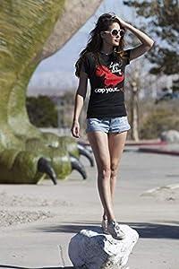 Goodie Two Sleeves Sad T-Rex Girl-Shirt schwarz