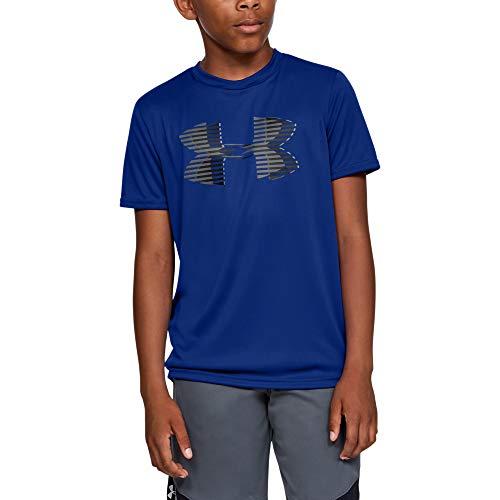 Under Armour Jungen Tech Big Logo Solid Tee Kurzarmshirt, Blau, YLG -