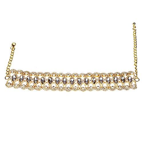 OBSEDE-Super-Luxus-Kristall-Stein-Choker-Halsband-Fr-Frauen-Mdchen-Verstellbar