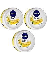 Nivea Soft Light Moisturizer, Tropical Fruit, 200 ml (Pack of 3)