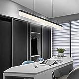Die Beleuchtung, LED-Büro rechteckige schwarze Kronleuchter Kronleuchter Beleuchtung Innenbeleuchtung (Farbe: Green Restaurant Studio einfach cool-100 (cm)