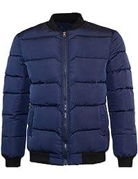 Hommes Hiver Couleur Pure Fermeture éclair Collier de Support Manteau de  Baseball Coton Outwear Veste de accba0b0d0a5