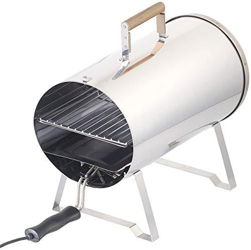 Rosenstein & Söhne Räucherofen elektrisch: Elektro-Tisch-Räucherofen & Smoker, Edelstahl, 1.100 Watt, bis 250 °C (Tischräucherofen elektrisch)