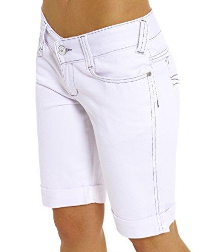 SS7 New Women's Denim Knee Summer Shorts White, Black, Sizes 6 to 16