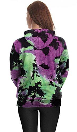 Belsen Damen Lange Ärmel Kapuzenpullover Sweatshirts Melt aliens