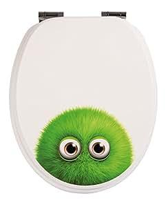 wc sitz dekor monster bobby toilettensitz wc brille aus holz soft close absenkautomatik. Black Bedroom Furniture Sets. Home Design Ideas
