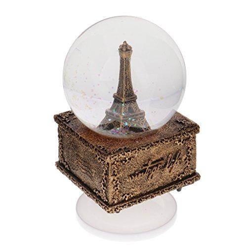 MagiDeal Modelo de Bola de Cristal de Nieve Torre Eiffel Interior con
