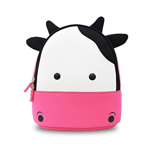NohooHaha 3D Kuh Kinderrucksäcke für Kindergarten,Schule und Wandern,für 2-5 Jahre Mädchen und Jungen (Kuh Hello Kitty)