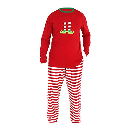 hnachten Familie Pyjama Set,Men Family PJS Matching Christmas Pajamas Set Blouse +Santa Pants ()