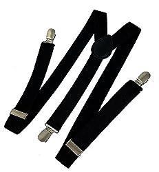 Zacharias Black Suspenders for Men