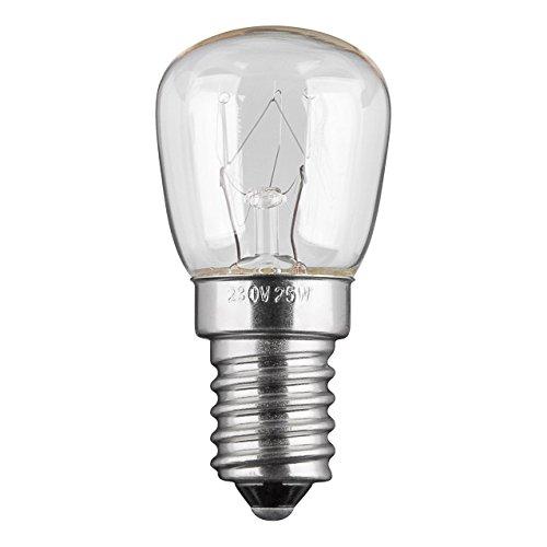 10x Kühlschranklampe   25W   E14   230V   2200 K   warm-weiß   Birne Lampe Glühbirne Glühlampe Leuchtmittel für Kühlschrank Kühlschrankglühbirne   warmweiß   10 Stück