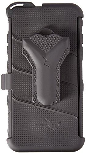 iPhone 6Plus/6S Plus 5,5en étui, Zizo Pièces avec housse [.33mm Film de protection d'écran en verre trempé 9H] [inclus] Armor Coque de qualité militaire Noir