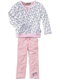 wellyou, Kinder-Schlafanzug, Langarm, für Mädchen, mit Pferde-Motiv, in rosa/weiß